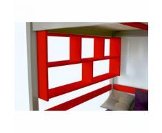 Étagère Murale - Couleur - Rouge, Dimensions - Largeur 160