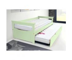 Lit Gigogne Topaze 80 x 190cm - Couleur - Vert Pastel, Dimensions - 80x190