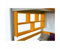 Étagère Murale - Couleur - Orange, Dimensions - Longueur 200