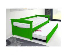 Lit Gigogne Topaze 80 x 190cm - Couleur - Vert, Dimensions - 80x190