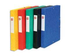 Boîte de classement 5 Etoiles - dos de 4 cm - carte lustrée - coloris assortis