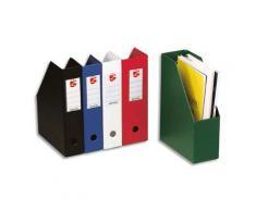 Porte-revues en PVC soudé - dos de 7 cm - rouge livré à plat