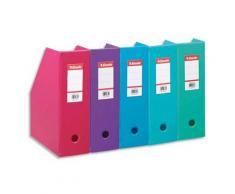 Porte-revues Esselte en PVC soudé - dos de 10 cm - coloris assortis