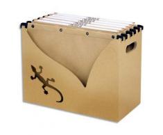 Bac classement l'Oblique Az en carton recyclé pour dossiers suspendus + 5 dossiers suspendus Touareg - 100% écologique