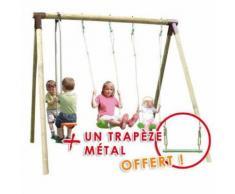 Portique bois Trigano 2,50 m. 4 enfants + 1 trapèze offert