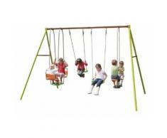 Promo - Portique métal Trigano 2,50m. 6 enfants