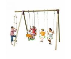 Portique bois TRIGANO 2,50 m. 5 enfants