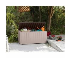 CHALET&JARDIN - Coffre de jardin avec assise 340 L