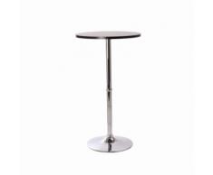 Superbe table haute mange debout bar bistrot bistrot MDF diamètre 60 c