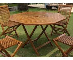 Table à manger de jardin pliante AKUDA - D.120cm