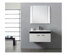 Placard miroir lumineux à leds CARMEN - L70 x H63 x P15 cm