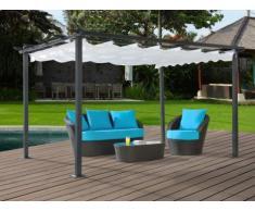 Tonnelle de jardin en aluminium CALANDRA - L395 x l295 x H227 cm
