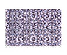 Tapis en vinyle effet carreaux de ciment BOGATELL - 120 x 180 cm - Multicolore