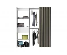 Dressing extensible KYLIAN - L114/168cm - Blanc et gris