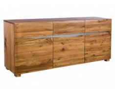 Buffet IPANEMA - 3 portes & 1 tiroir - Chêne huilé & Acier