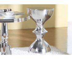 Tabouret METROPOLIS en aluminium H56*D34cm