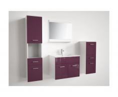 Ensemble CLAUDIO - meuble de salle de bain - laqué lilas