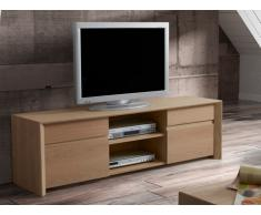 Meuble TV KOUVOLA - 2 portes & 2 niches - Coloris : Chêne