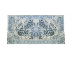 Tapis de couloir effet usé BRUGES - 80 x 200 cm - Bleu