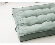 Coussin palette 100% coton DAN - 120 x 120 cm - Vert foncé