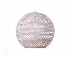 Suspension ronde en bambou SPHERA - D.49 cm x H. 150 cm - Blanc