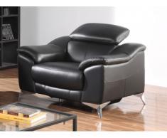Fauteuil relax électrique en cuir DALOA - Noir