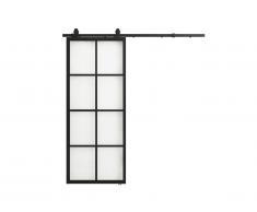 Porte coulissante en applique WILDEN - H205cm x L83cm - Aluminium et verre trempé