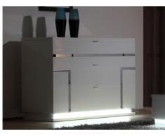 SOLDES - Commode LUMINESCENCE - 3 tiroirs - MDF laqué blanc et LEDs