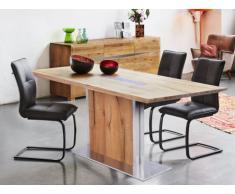 Table à manger IPANEMA - 6 couverts - Chêne huilé & Acier