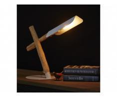 Lampe à poser STYRSO en bois et métal - H.49 cm