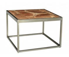 Table basse OKEANOS - Bois de manguier & métal