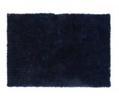 Tapis shaggy CYAN avec fils argentés - polyester - Bleu - 160*230cm