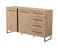 Buffet PHILADELPHIE - 2 portes & 4 tiroirs - Coloris : Chêne