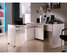 Bureau amovible STEPHEN - MDF laqué blanc