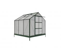 Serre de Jardin en polycarbonate de 5.9 m² ANISSA avec embase - Vert