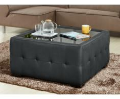 Table basse en tissu RAKEL - Anthracite