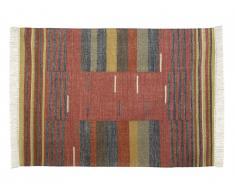 Tapis kilim tissé main en laine ARYA - 200x290cm - Multicolore