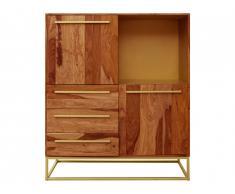 Buffet haut OREGAN - 2 portes, 3 tiroirs & 1 niche - Bois de Sheesham