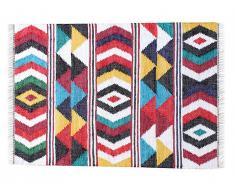 Tapis tissé main en matières recyclées QUICACHA - 160 x 230 cm - Multicolore