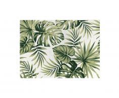 Tapis intérieur ou extérieur ethnique motifs feuilles PALMO - 150 x 200 cm - Vert