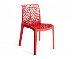 Chaise empilable DIADEME - Polypropylène - Rouge vermillon