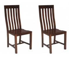 Lot de 2 chaises KYOP - Teck massif