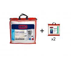 Pack DODO couette 240 x 260 cm anti-transpirante + 2 oreillers 60 x 60 cm effet rafraîchissant FRESH CONTROL
