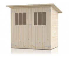 Abri de jardin en bois FUGIO - surface 2,4m² - Epaisseur 14 mm