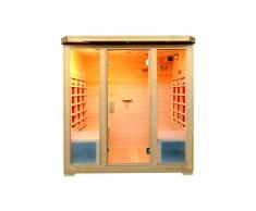 Sauna Infrarouge 4/5 places Gamme prestige STOCKHOLM II - L180*P120*H190 cm - 2800W