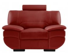 Fauteuil cuir CALIFORNIA II - Rouge