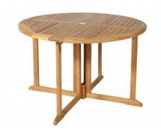 Table à manger de jardin pliable BYBLOS Teck - D.120cm