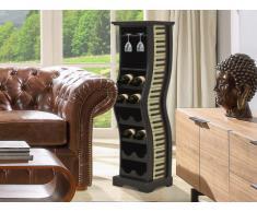 Porte-bouteilles ARPEGE Noir & blanc - 12 bouteilles - H.97 cm