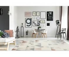 Tapis style contemporain COIMBRA - 100% Polypropylène - 160x230m - Beige, gris et bronze