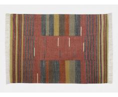 Tapis kilim tissé main en laine ARYA - 160x230cm - Multicolore